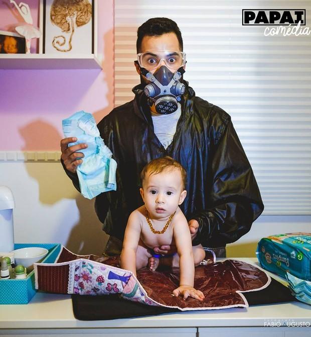Papai comédia (Foto: Reprodução - Facebook)