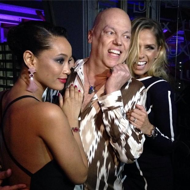 Taís Araújo, Marco Antônio Di Biaggi e Adriane Galisteu em festa em São Paulo (Foto: Instagram/ Reprodução)