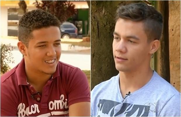 Exame de DNA comprovou que Daniel e Diego foram trocados em hospital, em Goiás (Foto: Reprodução/TV Anhanguera)