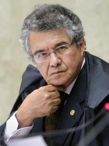 O ministro Marco Aurélio Mello durante sessão de julgamento do mensalão no STF (Foto: Felipe Sampaio / STF)