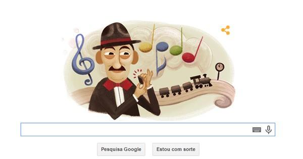 Doodle do Google presta homenagem a Adoniran Barbosa (Foto: Reprodução)