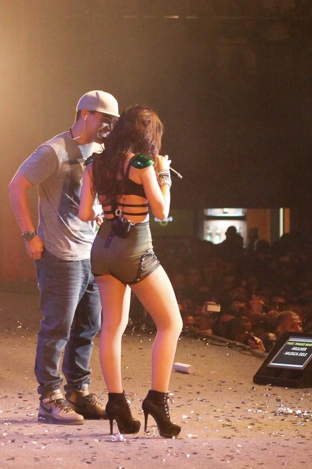 """Anitta e Thiago Martins no lançamento da turnê """"Show das Poderosas"""" (Foto: João Pedro Durao e Daniel Scelza/Divulgação)"""
