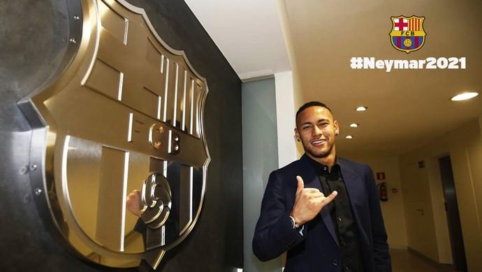 Neymar Barcelona renovação (Foto: Divulgação / Twitter FC Barcelona)