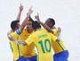 Brasil na semifinal do futebol de areia, natação e PSG no sábado do SporTV