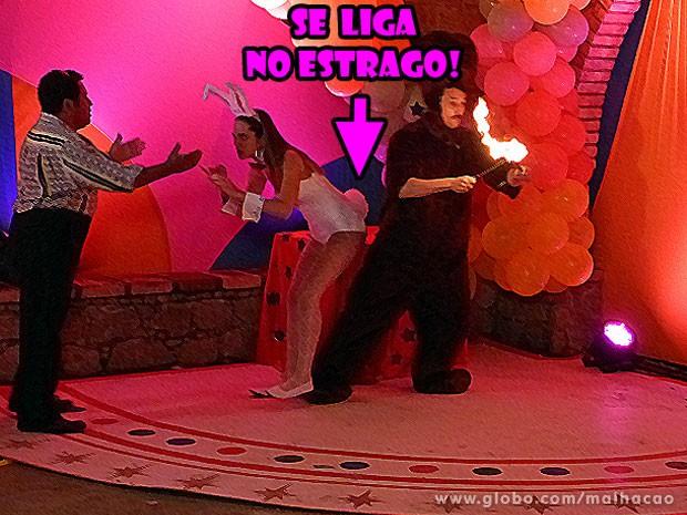 Se liga na confusão que o bumbum da Fatinha vai causar! :O (Foto: Malhação / Tv Globo)