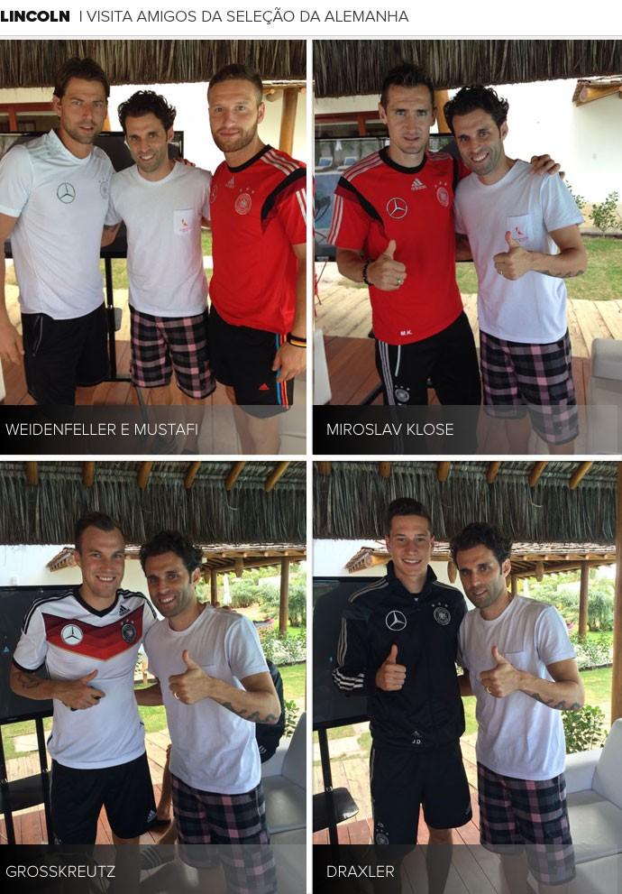 MOSAICO - Lincoln, do Bahia, Visita amigos da Alemanha em Santa Cruz Cabrália (Foto: Divulgação)