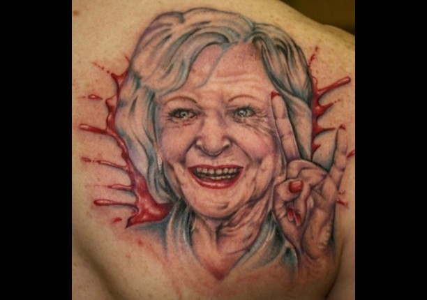 "O que dizer desta Betty White ""zangue nos zóio""? (Foto: Reddit)"