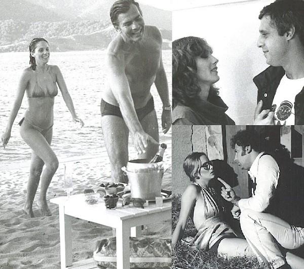 Nicole em três tempos: com Tarcísio Meira no filme Eu; ao lado de Antonio Fagundes na peça O terceiro beijo; e com Cláudio Cunha no longa Damas do prazer (Foto: Reprodução)