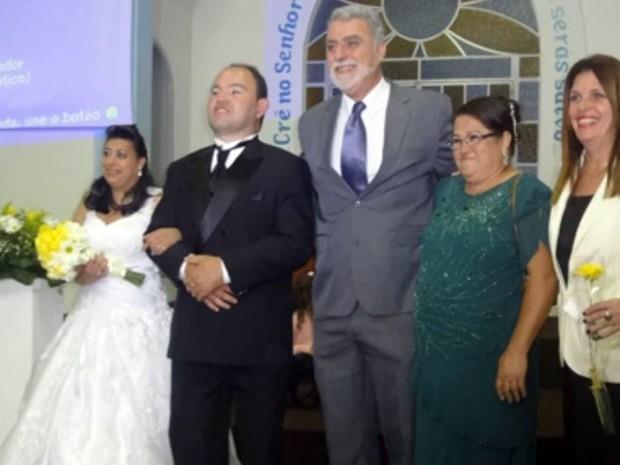 Casamento, pessoas com deficiência, Cambuquira (Foto: Reprodução/ EPTV)