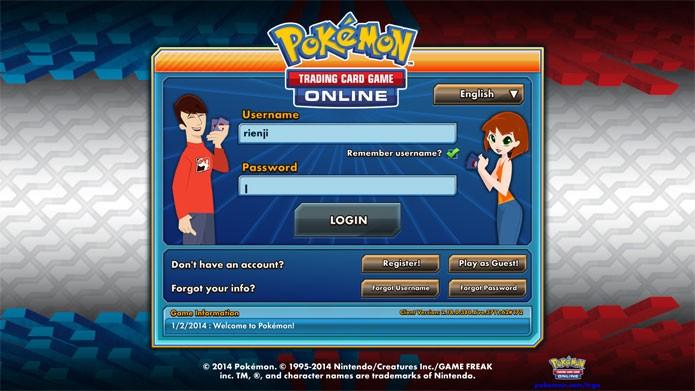 Entre com seu login e senha para começar a aventura Pokémon (Foto: Reprodução/Felipe Vinha)