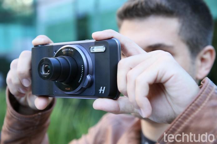 Módulo de câmera da Hasselblad tem zoom ótico de até 10x  (Foto: Ana Marques/TechTudo)