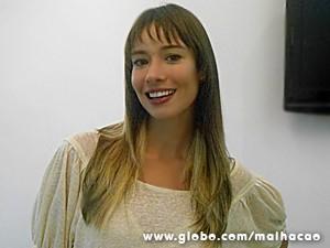 Flavia Rubim curtiu o visual com mechas loiras (Foto: Malhação / TV Globo)