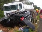 Três pessoas morrem e uma fica ferida após acidente na GO-139