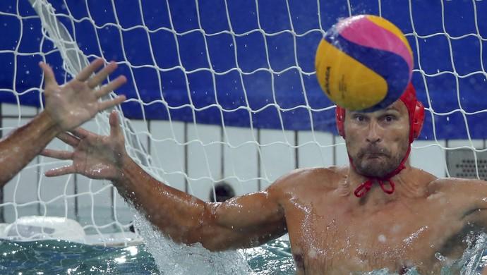 polo aquático, brasil x sérvia (Foto: REUTERS/Laszlo Balogh)