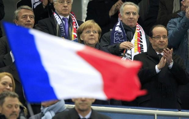 Francois Hollande, presidente da França, e Angela Merkel, chanceler alemã (Foto: Reuters)