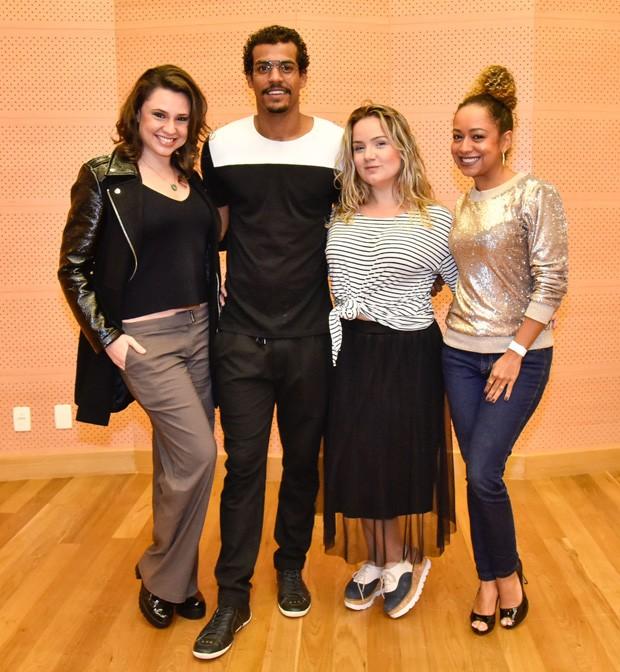 Francis Helena, Marcello Melo Jr., Tatyane Goulart e Aretha Oliveira (Foto: AgNews)