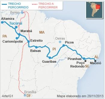 mapa tucuruí pará