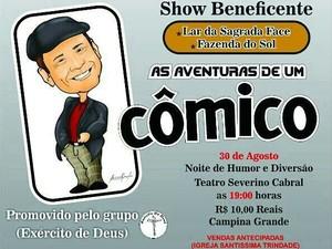 Show beneficente será promovido no Teatro Municipal de Campina Grande (Foto: Reprodução/Exército de Deus)