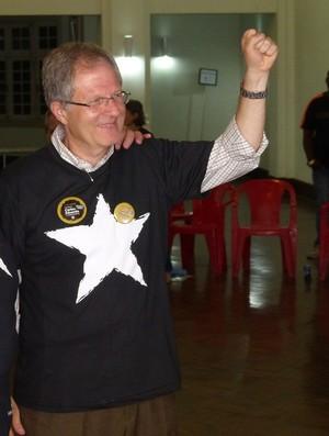 Carlos Eduardo Pereira, novo presidente, com o vice, Botafogo (Foto: Sofia Miranda)