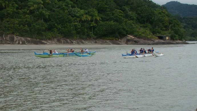 Equipe de canoa havaiana de Peruíbe (Foto: Divulgação / Prefeitura de Peruíbe)