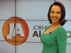 Laine Valgas no Jornal do Almoço (Foto: RBS TV/Divulgação)