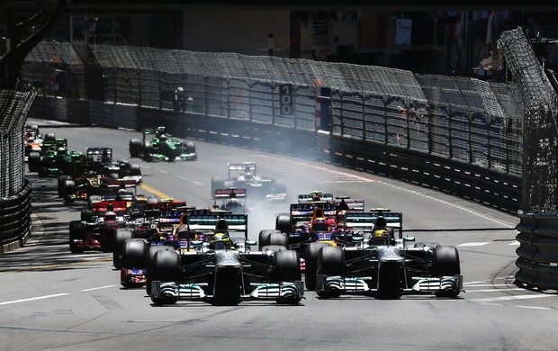 Largada do GP de Mônaco de Fórmula 1 (Foto: Getty Images)
