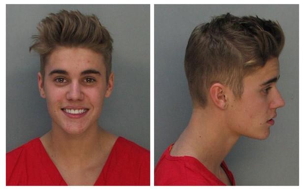 Justin Bieber na foto de fichamento policial (Foto: Divulgação/ Departamento de Polícia de Miami/Reuters)