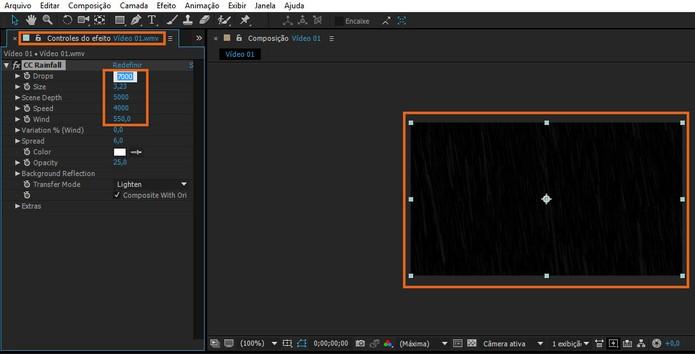 Personalize o efeito usando os controles da aba à esquerda da tela (Foto: Reprodução/Barbara Mannara)