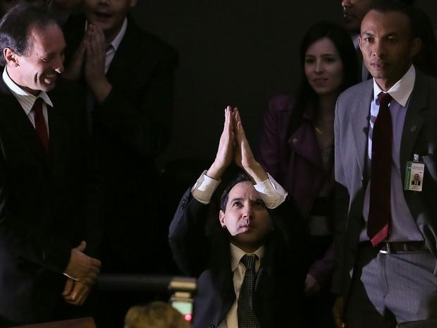 Deputado federal Natan Donadon (ex-PMDB-RO) no plenário da Câmara dos Deputados (Foto: Sérgio Lima/Folhapress )