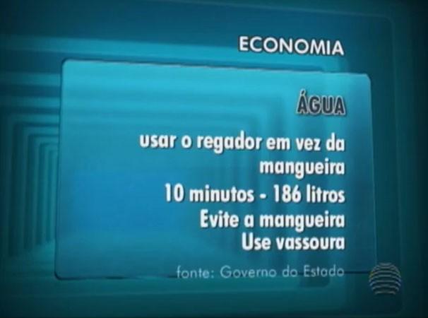 Matéria orientou a população sobre o consumo consciente da água (Foto: Reprodução/TV Fronteira)