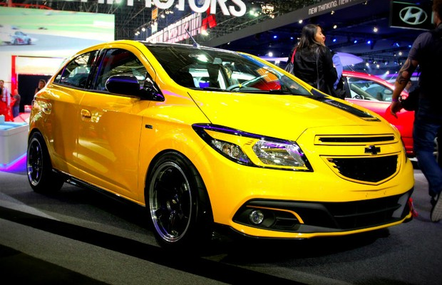 Chevrolet Onix no Salão do Automóvel 2014 (Foto: Autoesporte)