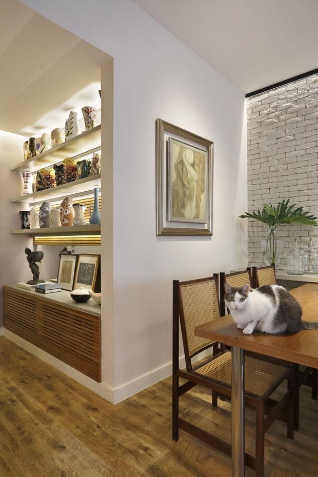 5 gatos e uma dona: decoração ganha móveis e materiais resistentes (Foto: Juliano Colodeti/MCA Estudio)
