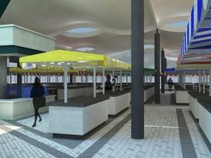 Projeto prevê espaço maior de circulação entre as bancas. (Foto: Dovulgação/Prefeitura de Taubaté)