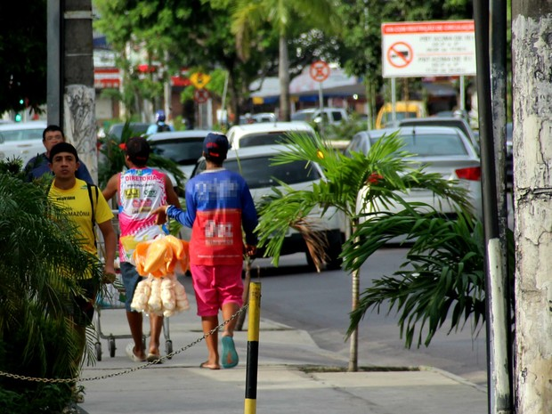 Trabalho infantil, em Manaus  (Foto: Divulgação/ Fieam )