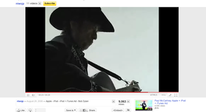 Interface YouTube wide