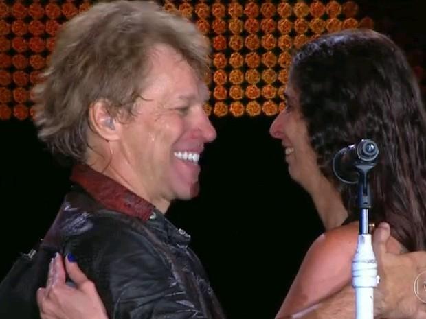 Essa não foi a primeira vez que Rosana Guedes chegou perto de Bon Jovi (Foto - bon-jovi.2