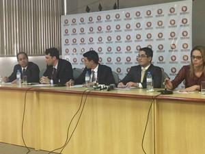 Promotores apresentam balanço da primeira fase de investigação da Lama Asfáltica (Foto: Alysson Maruyama/ TV Morena)