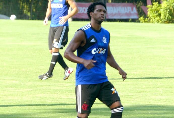Luiz Antonio no treino do Flamengo (Foto: Cauê Rademaker)