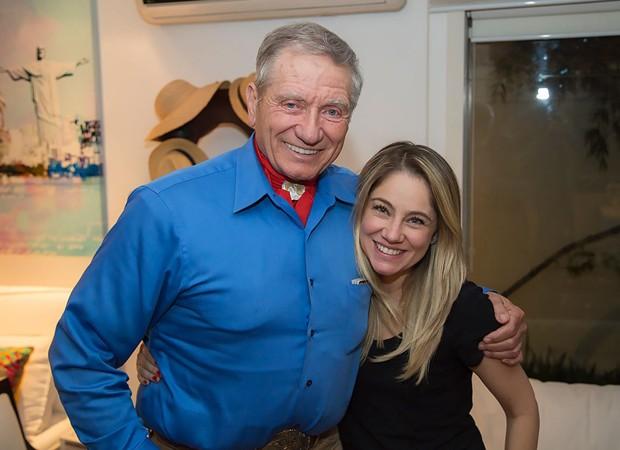 Monty Roberts e Juliana Baroni (Foto: Arquivo pessoal)
