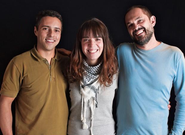 Jackson Íris, Mariane Gutierrez e Beto Andreetta são parceiros do projeto BuZum (Foto: Divulgação)
