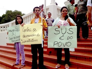 Marcha corrupção Acre (Foto: Rayssa Natani / G1)