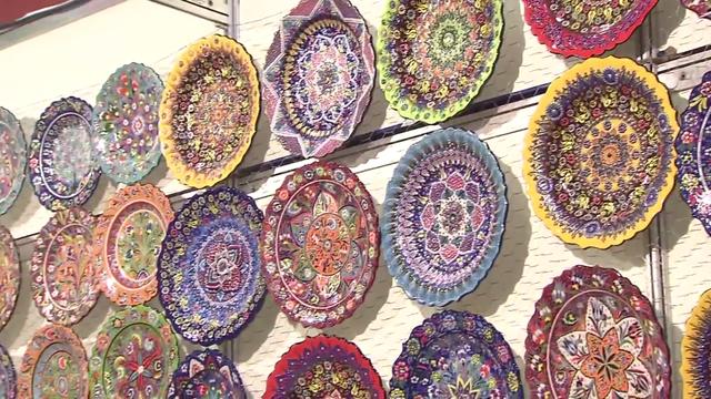 Feira Mundial de Artesanato acontece até este domingo (13) (Foto: Reprodução/TV Tribuna)