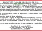 Seca faz governo declarar situação de emergência nas área agrícolas do DF
