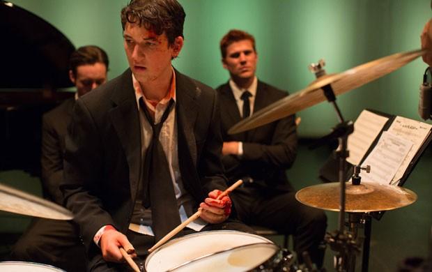 Miles Teller em cena de 'Whiplash: Em Busca da Perfeição' (Foto: Divulgação/Sony Pictures)