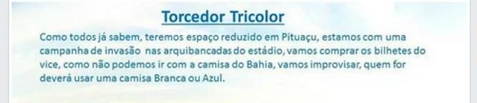 Invasão Bahia Ba-Vi (Foto: Reprodução / Facebook)