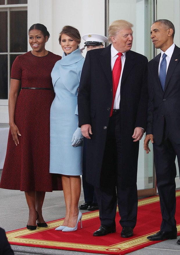 Michelle Obama, Melania Trump, Donald Trump e Barack Obama (Foto: Getty Images)