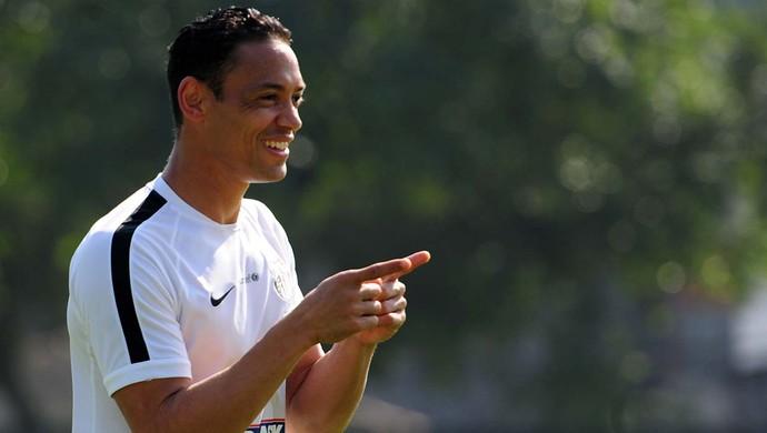 Ricardo Oliveira igualou Neymar e tenta repetir marca de Pelé no Santos (Foto: Ivan Storti/Santos FC)