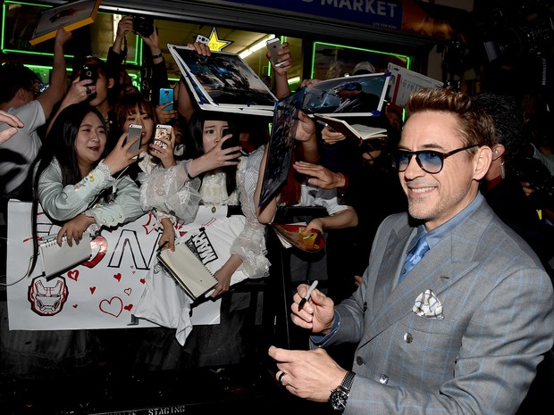 Robert Downey Jr. em première em Los Angeles, nos Estados Unidos (Foto: Kevin Winter/ Getty Images/ AFP)