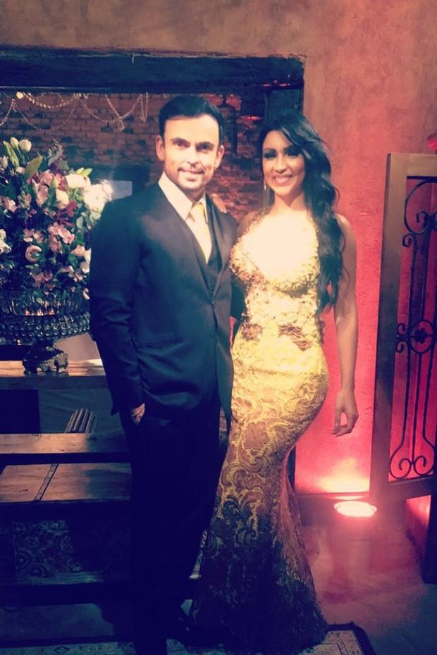Jenny Miranda com o marido, Odair Lopes (Foto: Arquivo pessoal)