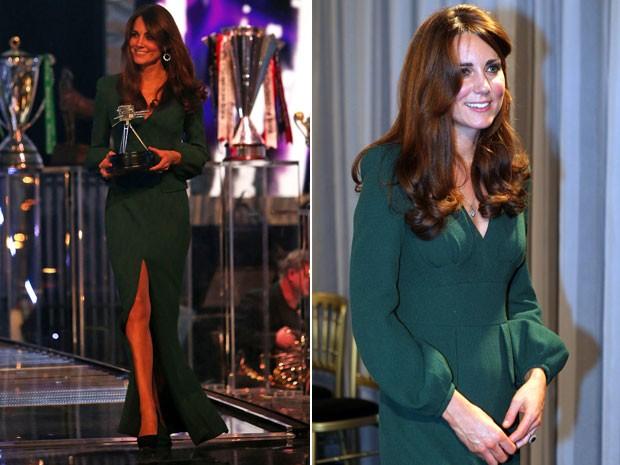 Kate Middleton participa de premiação do canal 'BBC' (Foto: AP)